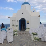white blue church cyprus