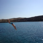 dive from boat Cyprus