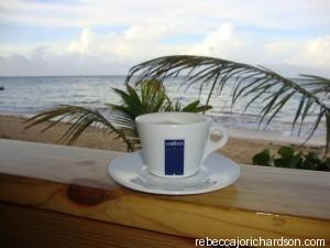 Cappuccino on the beach