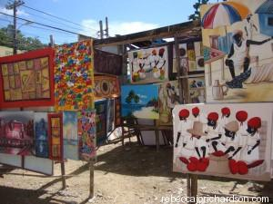 Las Terranas art in the street