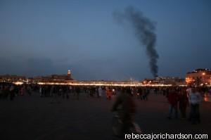 marrakech market smoke