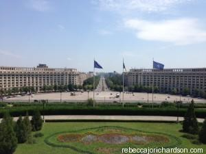 view from the palace bucharest