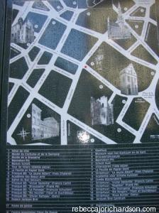 Map in Brussels