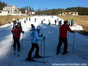 first day of ski lessons in bulgaria