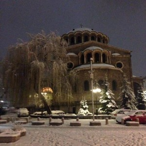 Sofia in the winter