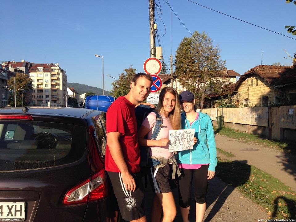 hitchhiking in sofia