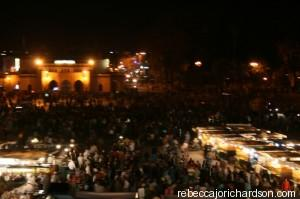 marrakech busy square
